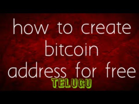 How To Create  Bitcoin Address  For Free In Telugu Using Coinebase Latest 2017.