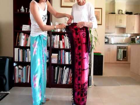 How to wear to a sarong Balinese style