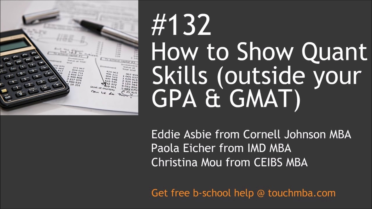 How To Show Quant Skills Outside Your Gpa And Gmat Youtube