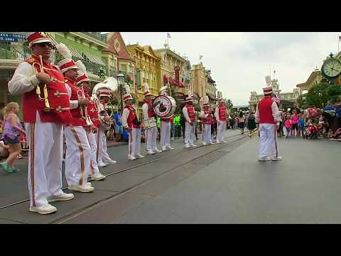 Disney World's Magic Kingdom Main Street Philharmonic Marching Band Music!! 2016 HD ep. 19