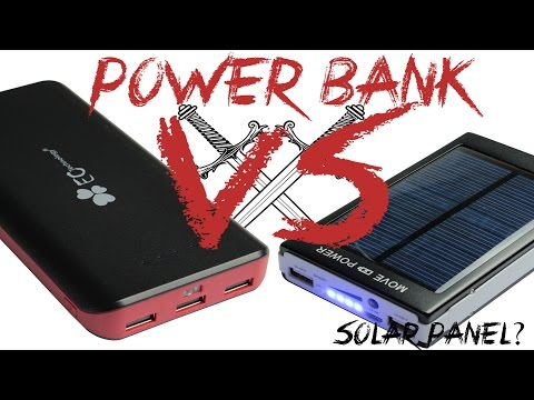 Power Bank: 22400mAh VS Solar 50000mAh