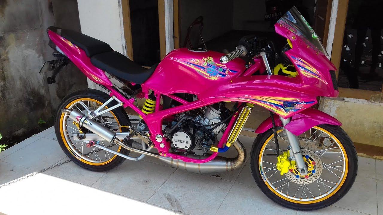 Modifikasi Motor Ninja R Warna Pink Ottovariasi