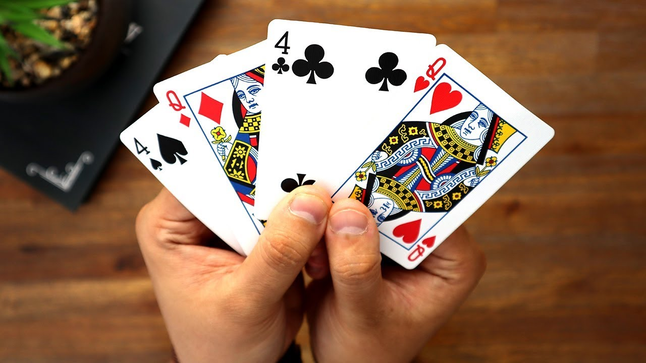 easy trick with 4 cards  magic tutorial  youtube