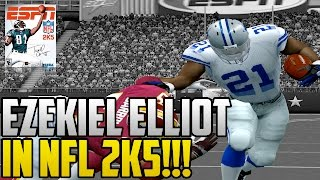 Ezekiel Elliot In ESPN NFL 2K5 With Madden 17 Ratings!!!