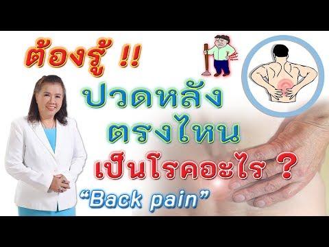 ปวดหลังตรงไหน เป็นโรคอะไร?   ปวดหลังในผู้สูงอายุ   back pain   พี่ปลา Healthy Fish