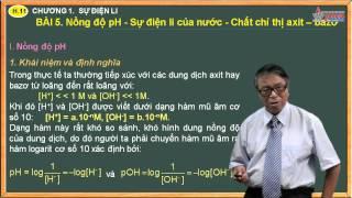 Bài giảng Hóa 11 - Nồng độ PH - Sự điên ly của nước - Axit - Bazơ