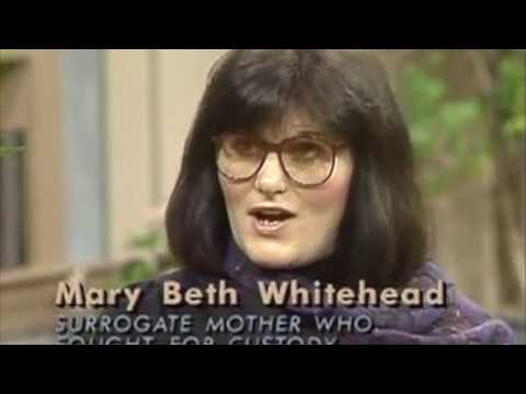 """Mary Beth Whitehead: """"Baby M"""" Surrogate Mother who fought for custody"""
