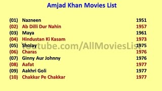 Amjad khan Movies List
