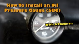 How To: Install an Oil Pressure Gauge(JrFlagman shows how to install an aftermarket oil pressure gauge in a Small Block Chevy engine. I hope the video was helpful. Let me know below if you've got ..., 2014-08-02T03:10:42.000Z)