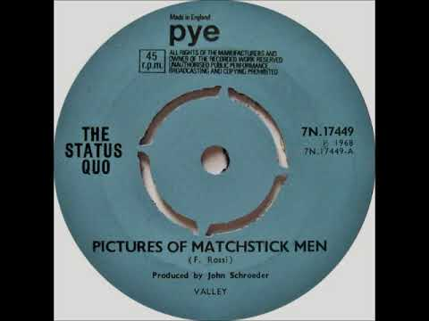 Status Quo - Pictures Of Matchstick Men on Mono 1968 Pye Records.