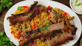 Плов. Вкусный домашний плов со свиными ребрышками.Простой и вкусный рецепт.Вариант Food Good