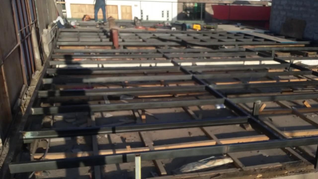 Fabricaci n de estructura de piso youtube - Estructura de metal ...