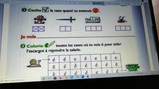 Cp Consignes Fichier Exercices Taoki Son E 1 Youtube