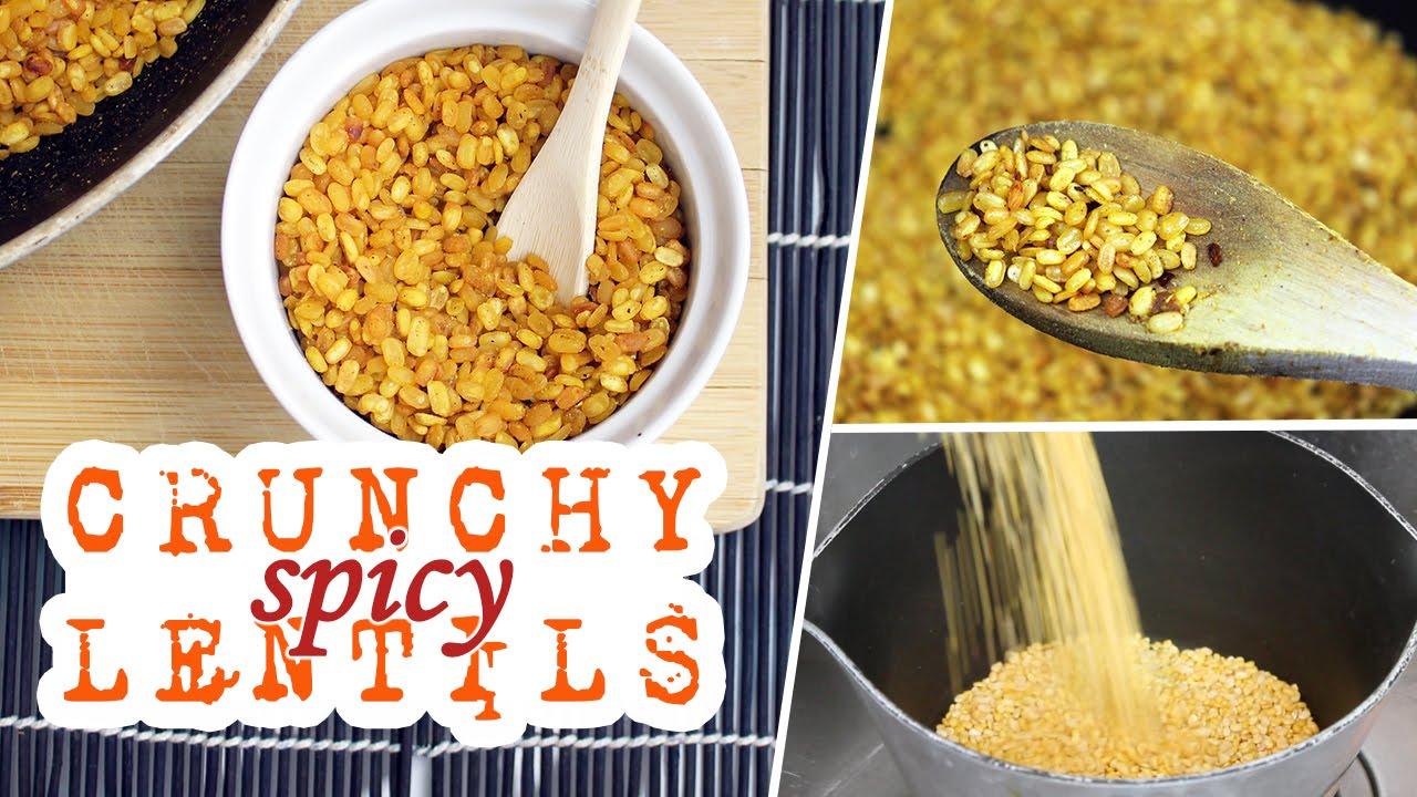Crunchy Spicy Lentils | Movie Snacks! | Vegan Recipe (giveaway closed)