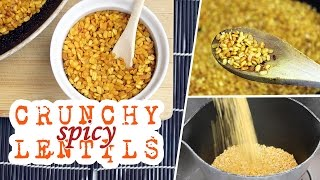 Crunchy Spicy Lentils | Movie Snacks! | Vegan Recipe (giveaway Closed)
