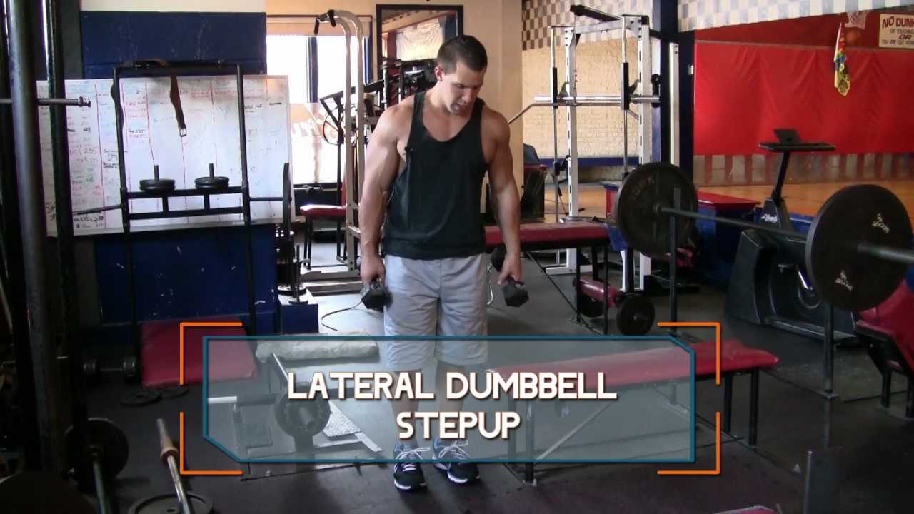 Lateral Dumbbell Step-Up - How to do Dumbbell Lateral Step ...