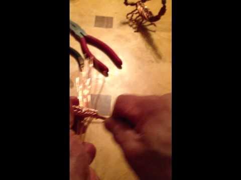 Tutorial de como hacer un alacran tejido con alambre de - Alambre de cobre ...