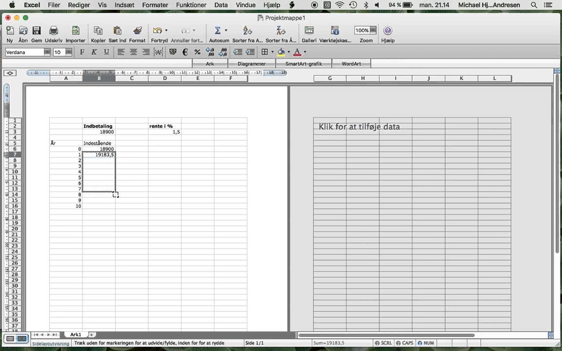 Målsøgning i Excel