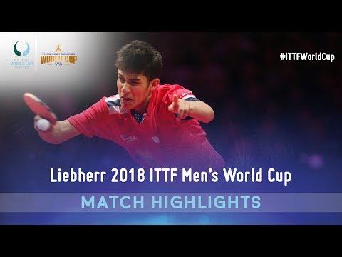 Lin Gaoyuan vs Kanak Jha | 2018 ITTF Men's World Cup Highlights ( R16 )