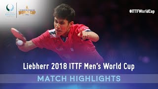 Lin Gaoyuan vs Kanak Jha | 2018 ITTF Men's World Cup Highlights ( R16 )