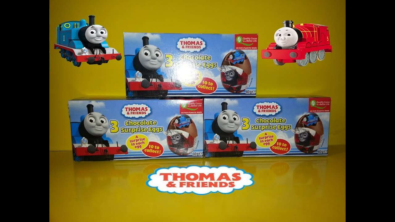 9 Surprise Chocolate Eggs Thomas The Tank & Friends Unboxing - YouTube