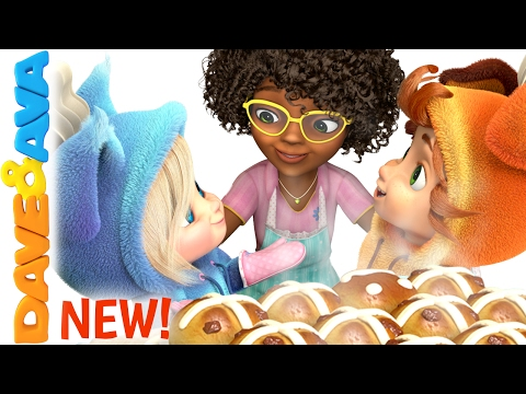 Thumbnail: 🥖 Hot Cross Buns | Nursery Rhymes | Nursery Rhymes and Kids Songs from Dave and Ava 🥖