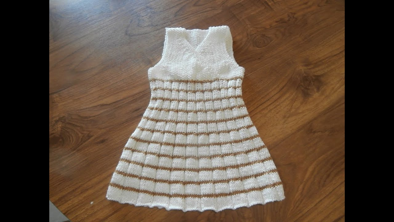 tricot robe 2 ans