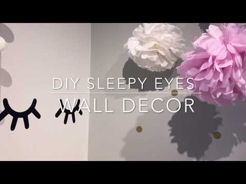 How to make Sleepy eyes / wall lashes decor - Easy tutorial