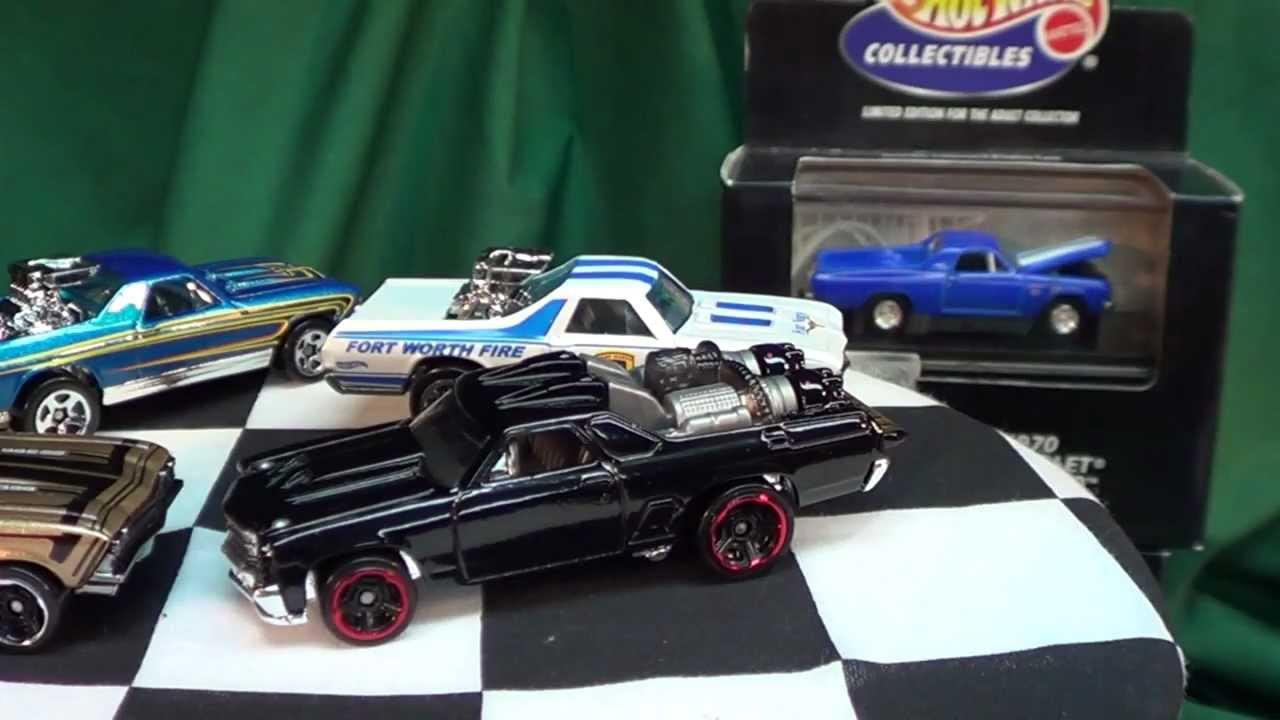 Hot Wheels Chevrolet El Camino 59 68 70 71 80 Youtube