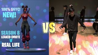 FORTNITE SCENARIO EMOTE IN REAL LIFE! | 100% SYNC! (LOVE SCENARIO iKON)