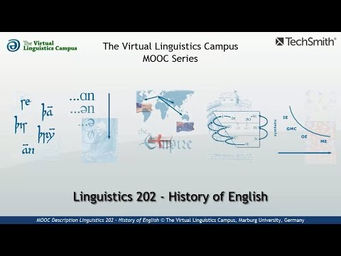 pMOOC Description: Linguistics 202 - History of English