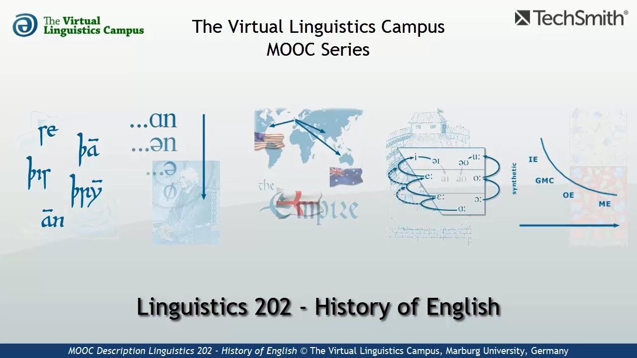 Pmooc description linguistics 202 history of english youtube pmooc description linguistics 202 history of english ccuart Choice Image