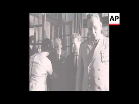 SYND 4 3 69 SOVIET DEFENCE MINISTER, MARSHAL ANDREI GRECHKO MEETS INDIRA GANDHI