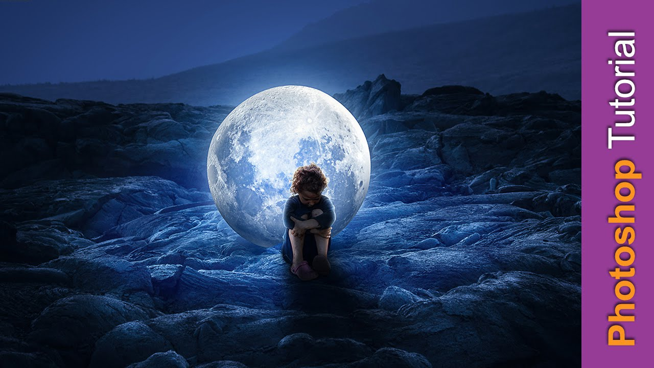 how to add moonlight in photoshop