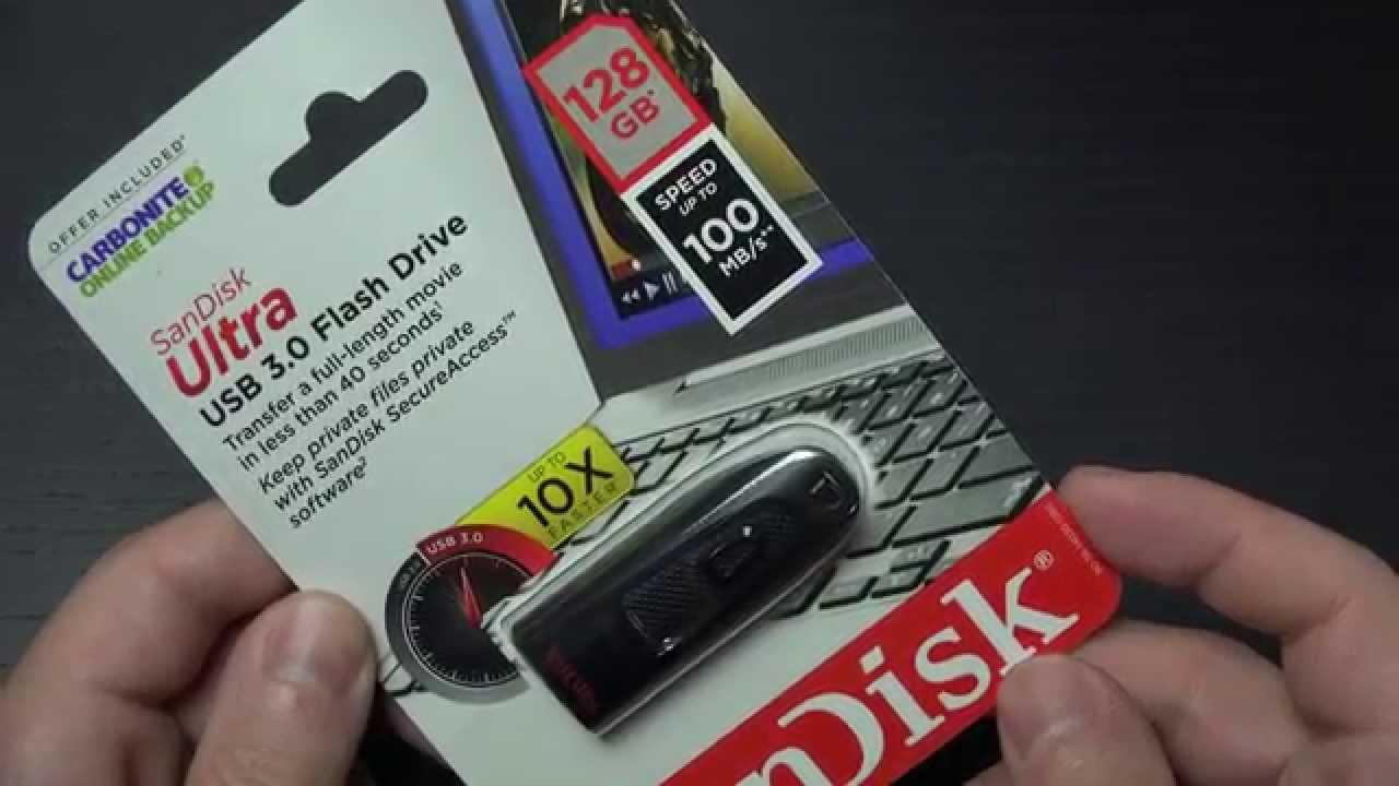 Sandisk Cz48 128gb Usb 3 0 Flash Memory Drive Unboxing Youtube