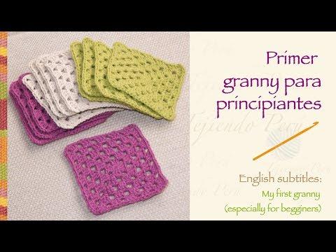 Primer granny tejido a crochet para principiantes / crochet Granny ...