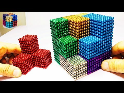 DIY How To Make Gaint Rainbow Cube with Magnetic Balls  | Magnetic Boy