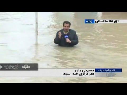 شاهد: مراسل التلفزيوني الرسمي الإيراني ينجز عمله في الماء …  - نشر قبل 19 دقيقة