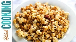 How To Make Caramel Corn (Cracker Jack) | Hilah Cooking