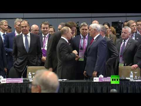 شاهد: لقاء عابر بين بوتين وبينس في سنغافورة  - نشر قبل 1 ساعة
