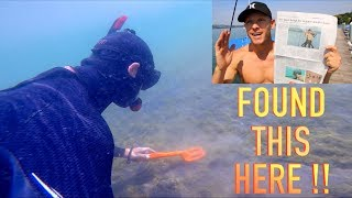 I Found THIS!! Treasure Hunting UNBELIEVABLE Front Page News!! while Underwater Metal Detecting