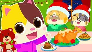 고양이가족 메리 크리스마스|산타 클로스|안전교육|색깔놀이|기차동요|애니메이션|베이비버스 인기동요|BabyBus