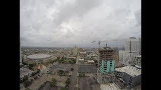 Time Lapse of Harvey Hitting Houston Saturday 8-26 part 1