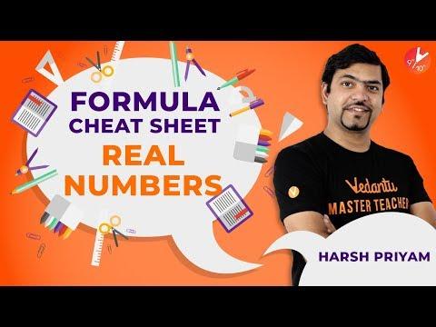All Formulas Of REAL NUMBERS | Formula Cheat Sheet | Maths | Vedantu Class 10
