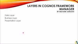 Cognos Framework Manager Layers Theory