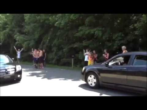 Fans outside LeBron James' home react to his decision to return to the Cleveland Cavaliers