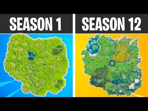 Evolution Of The Entire Fortnite Island (Season 1-Season 12)