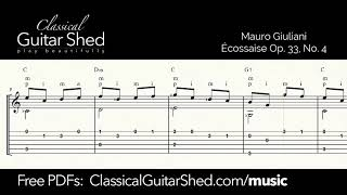 Giuliani: Ecossaise - Free sheet music and TABS for classical guitar