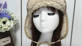 따뜻 귀요미 겨울여행 양면귀달이모자, 리버시블양털모자 …
