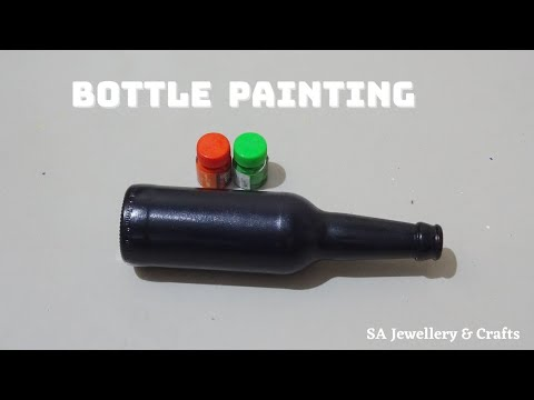 easy-glass-bottle-painting-for-beginners-|-bottle-painting-ideas